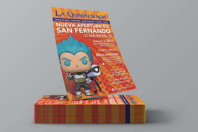 Diseño de Flyer publicitario La Quinta Esencia.