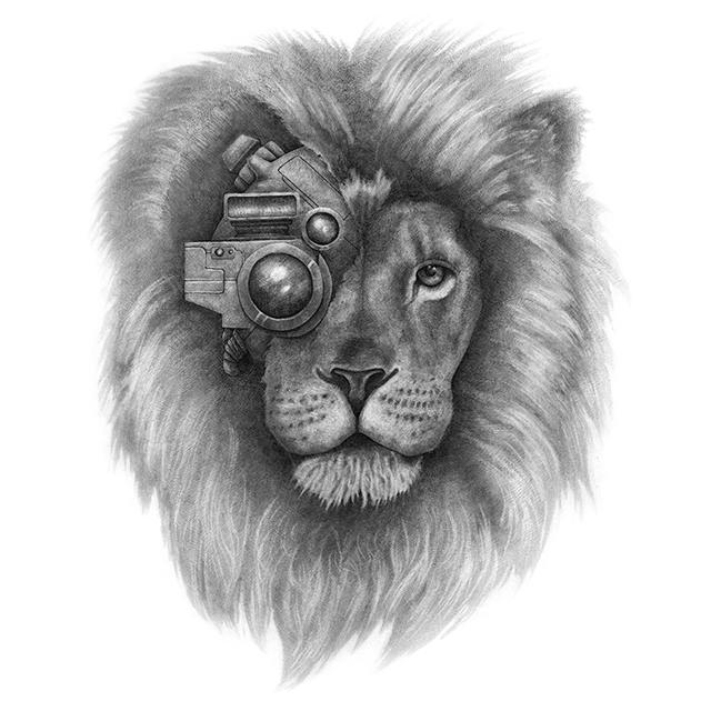 Ilustración corporativa El león.