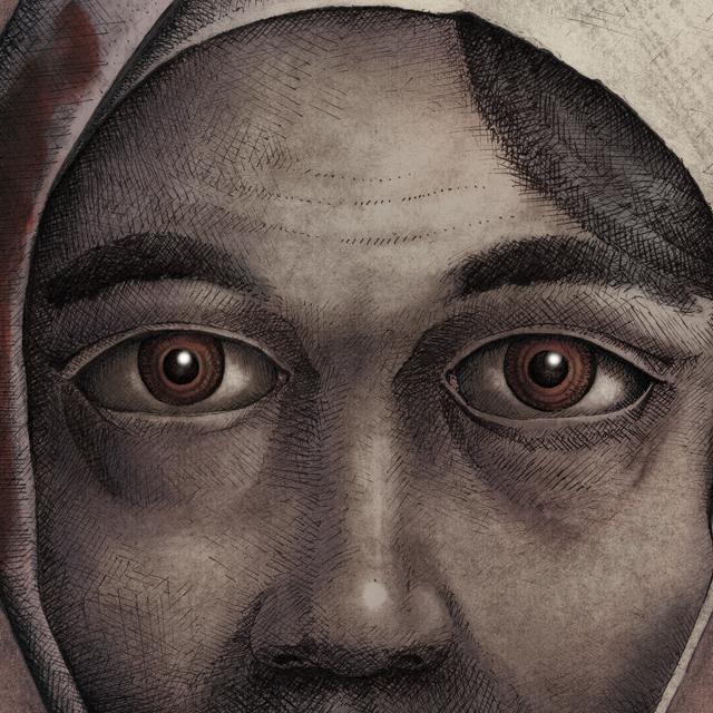 Ilustración película de terror no profanar el sueño de los muertos