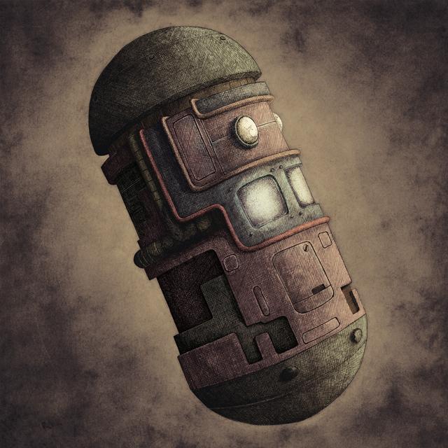 Ilustración Capsula Steampunk