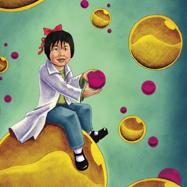 Proyecto de ilustración niñas investigadoras UCA Universidad de Cádiz